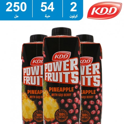 كي دي دي - عصير باور فروت (نكهة الأناناس وتوت جوجي) 54×250 مل
