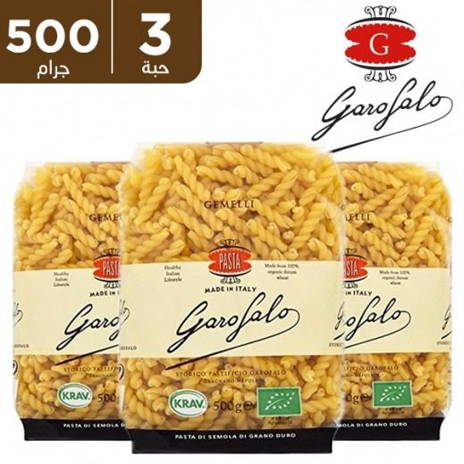غاروفالو - معكرونة جاملي عضوية 3×500 جم