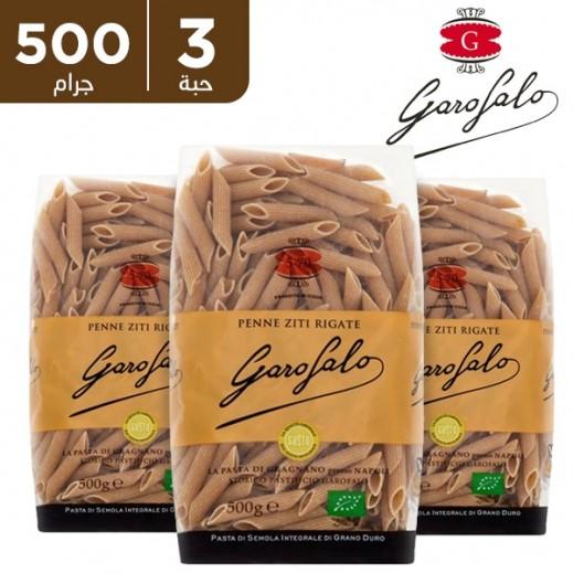 غاروفالو - معكرونة بيني ريجيت عضوية بالقمح الكامل 500 جم