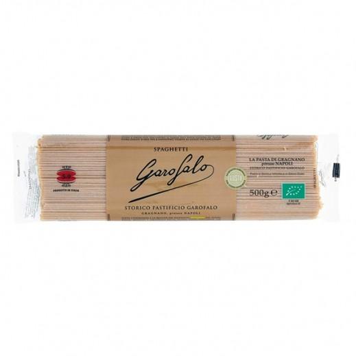 غاروفالو - معكرونة اسباجتي عضوية بالقمح الكامل 500 جم