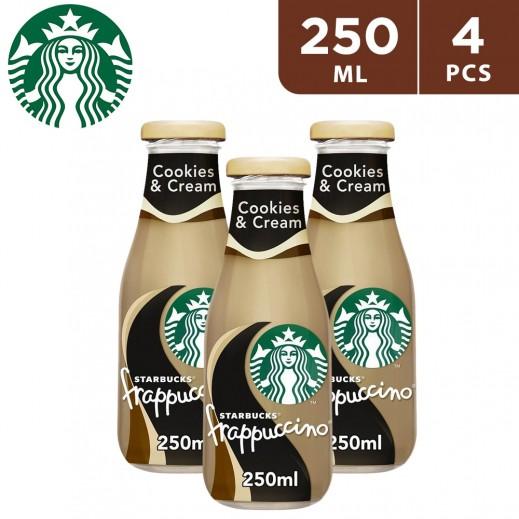 ستاربكس – مشروب قهوة فرابتشينو كوكيز & كريمة 4 × 250 مل