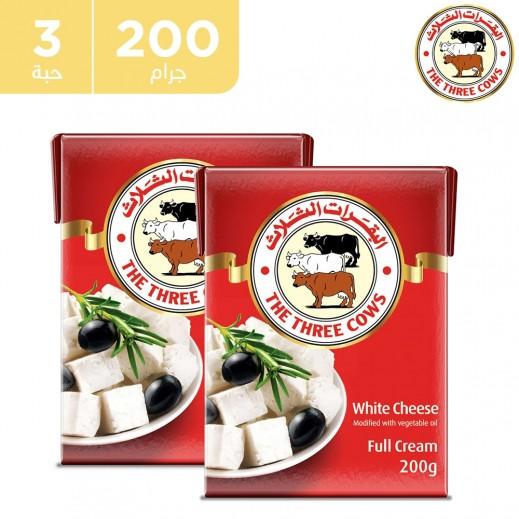 البقرات الثلاث – جبنة بيضاء كاملة الدسم 3 × 200 جم