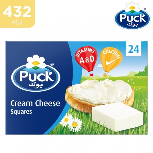 Puck Cream Cheese 6 500gm جبنة بوك سائله قابله للدهن ٦ ٥٠٠ جرام Qareeb