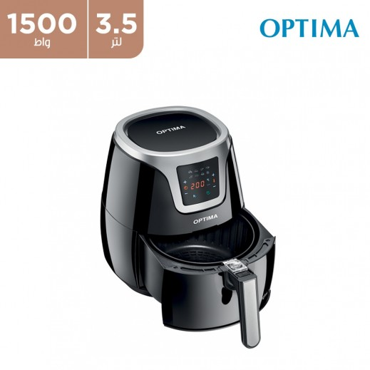 أوبتيما - قلاية هوائية 1500 واط 3.5 لتر – اسود
