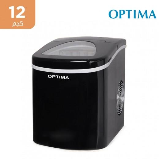 أوبتيما - صانعة ثلج محمولة تنتج 12 كجم يومياً - أسود
