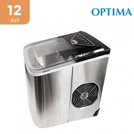 أوبتيما - صانعة ثلج محمولة تنتج 12 كجم يومياً - فضي