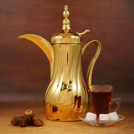 إيه إس سي – دلة القهوة ستانليس ستيل ذهبي 0.5 لتر