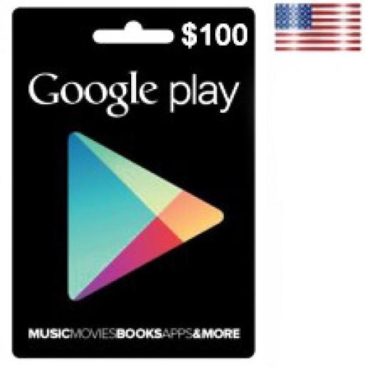 بطاقة GOOGLE PLAY بقيمة 100 دولار للحسابات الأمريكية فقط –  إستلم فورا على بريدك الإلكتروني