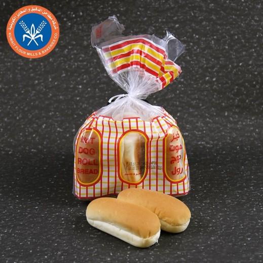 مطاحن الكويت خبز هوت دوج رول 6 ارغفة 300 جم