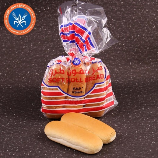 مطاحن الكويت خبز سوفت رول 6 حبات 300 جم