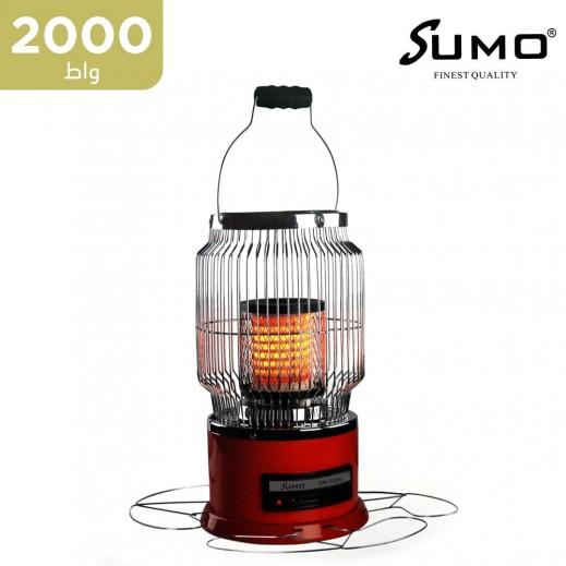 سومو - دفاية كهربائية 2000 واط - أحمر