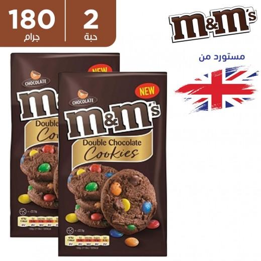 ام اند امز كوكيز شوكولاتة دبل 2 × 180 جم