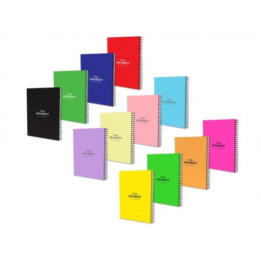 دفتر كتابة للجامعة متعدد الالوان- 80 ورقة