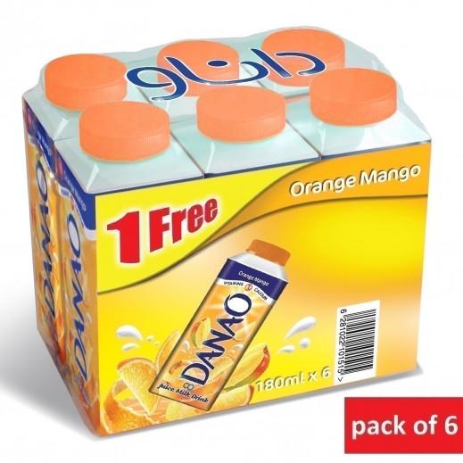 داناو – عصير بالحليب بطعم البرتقال والمانجو 180 مل × 6 حبة