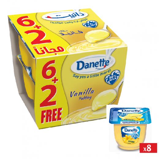 دانيت – حلوى بودنج بطعم الفانيلا 90 جم (6+2 مجانا)