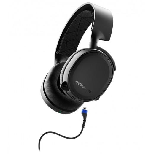 """ستيل سرياس – سماعة رأس لاسلكية بلوتوث """"Arctis 3"""" لجهاز نينتندو سويتش – أسود (إصدار 2019)"""