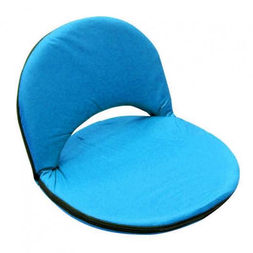 مقعد أرضي بظهر قابل للطي والتعديل - أزرق فاتح