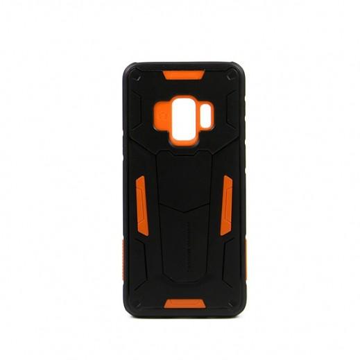 """نيلكين – غطاء حماية خلفي """"Defender"""" لسامسونج S9 - أسود وبرتقالي"""