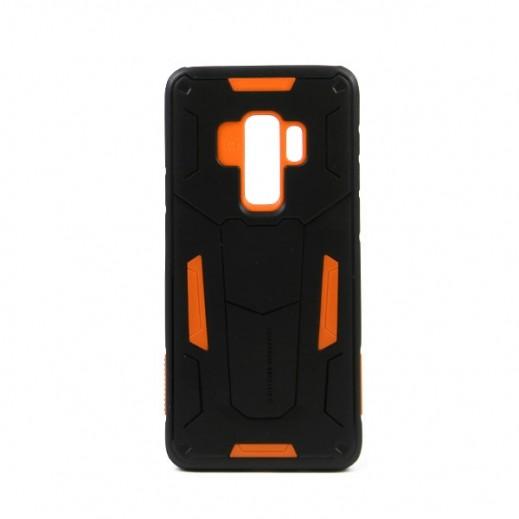 """نيلكين – غطاء حماية خلفي """"Defender"""" لسامسونج +S9 - أسود وبرتقالي"""