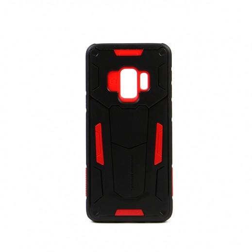 """نيلكين – غطاء حماية خلفي """"Defender"""" لسامسونج S9 - أسود وأحمر"""