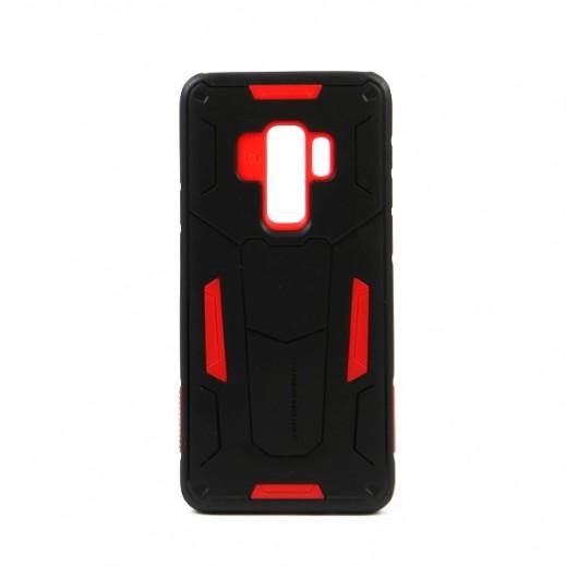 """نيلكين – غطاء حماية خلفي """"Defender"""" لسامسونج +S9 - أسود وأحمر"""