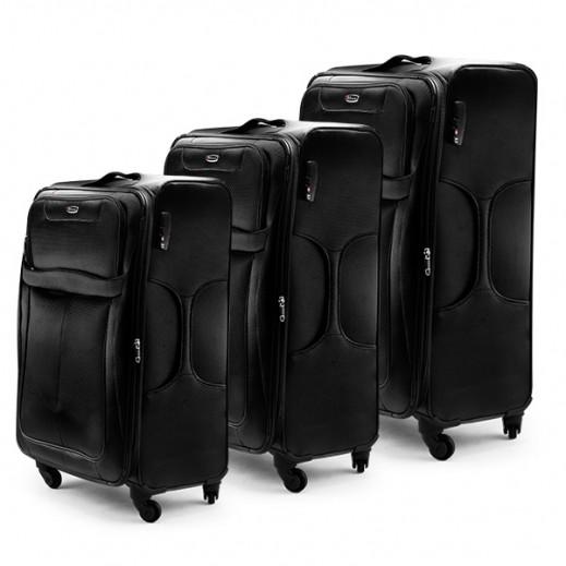 3 حقائب من القماش المتين من Scorpio - أسود