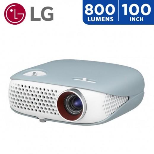 """ال جي - بروجكتور لاسلكي 800 لومينز حجم شاشة يصل الي 100"""" - يتم التوصيل بواسطة ABDULAZIZ ALBABTAIN CO."""