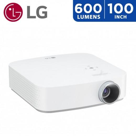 """إل جي – بروجكتور 600 لومينز حجم شاشة يصل الي 100"""" - يتم التوصيل بواسطة ABDULAZIZ ALBABTAIN CO."""