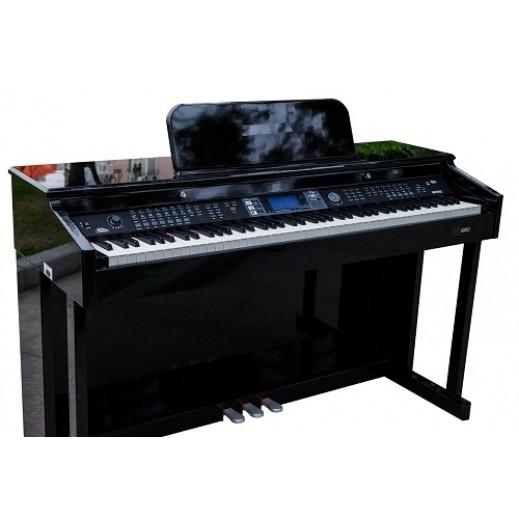 سوزوكي – بيانو ديجتال 88 مفتاح 147 صوت مع شاشة LCD – أسود - يتم التوصيل بواسطة Marshall Al-Alamiah Company