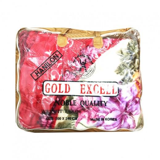 جولد إكسل – بطانية كوري 200 × 240 سم - أحمر