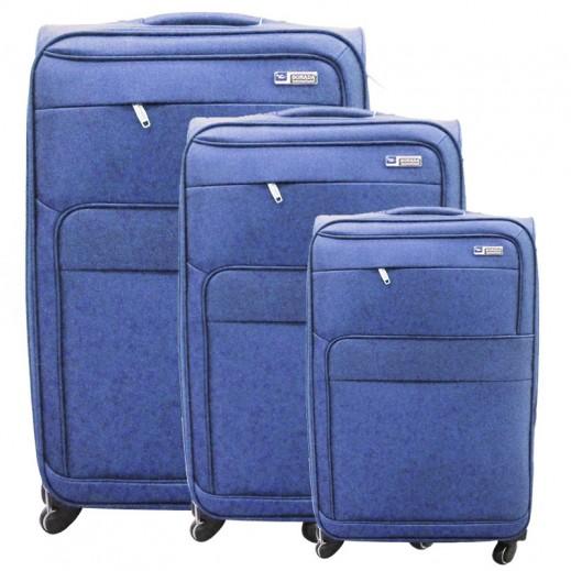 68864599c171c سونادا – 3 حقائب سفر بعجل – أزرق
