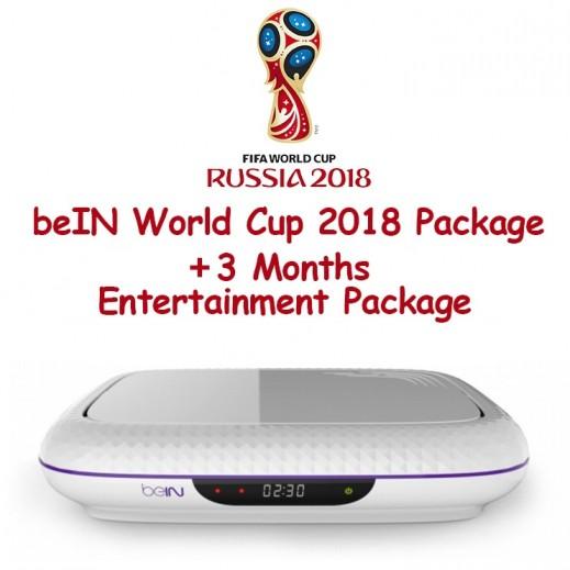 إشتراك beIN كأس العالم 2018 & باقة Entertainment لمدة 3 أشهر مع ريسيفر (المشتركين الجدد فقط)