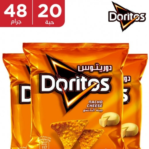 دوريتوس - رقائق الذرة بطعم الجبنة الناتشو 20 حبة × 40 جم