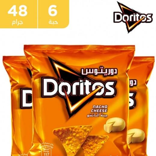 دوريتوس - رقائق الذرة بطعم الجبنة الناتشو 6 حبة × 40 جم