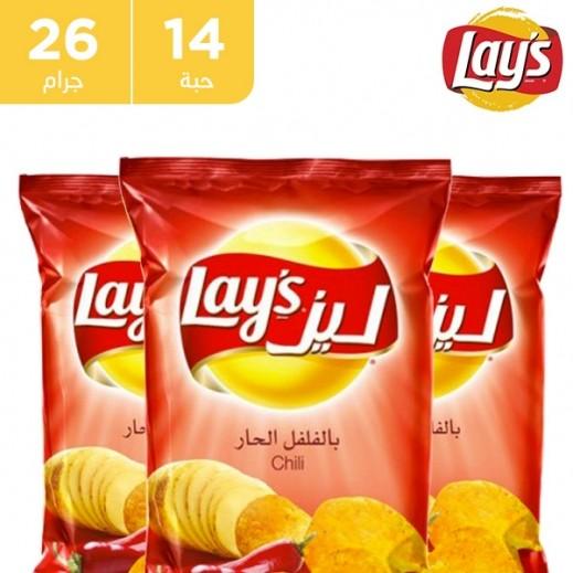 Lays Potato Chips Chilli Flavour 14x 23 g