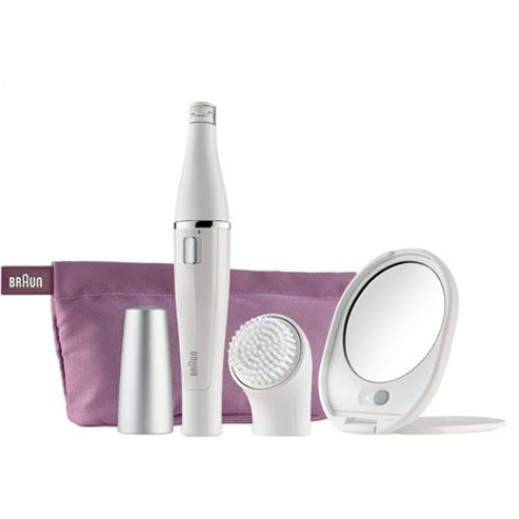 Braun Face830 Facial Epilator & Cleansing Brush With Beauty Pouch + Mirror