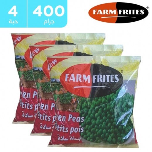 فارم فريتس - بسلة خضراء سادة مجمدة 4 × 400 جم