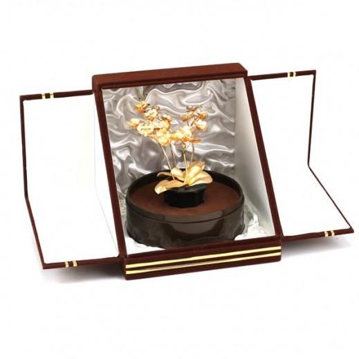 كيو بيست - وردة مصنوعة من ورق الذهب 24 قراط  اُوركيد
