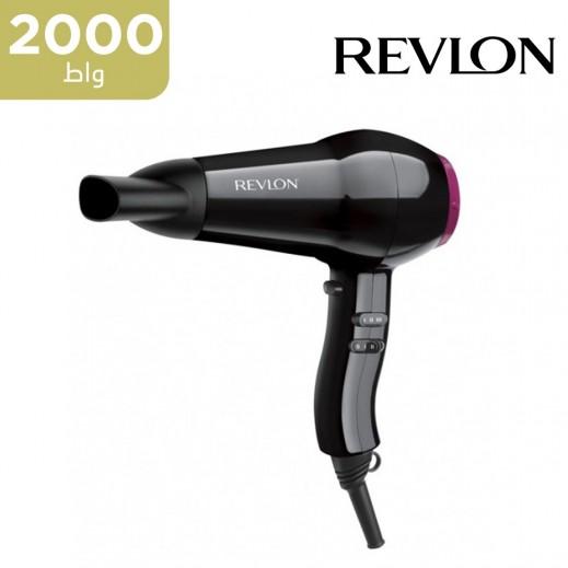 ريفلون - مجفف ومصفف الشعر بحرارة متجانسة بقوة 2000 واط موديل RVDR5823ARB