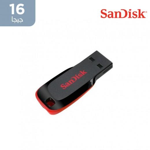 سانديسك – فلاش دريف Cruzer Blade سعة 16 جيجا 2.0 USB – أسود