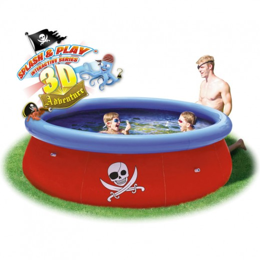 بست واي – حمام السباحة  274 × 76 سم ونظارات السباحة ثلاثية الأبعاد