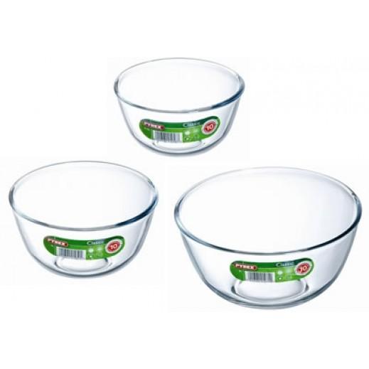 بايركس – طقم أوعية زجاجية - 3 حبة