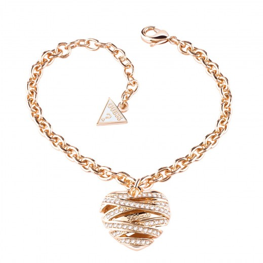 جِس – سوار على شكل قلب متوسط الحجم مطلي ذهبي مقاس كبير - يتم التوصيل بواسطة التوصيل بعد 4 أيام عمل بواسطة بيضون