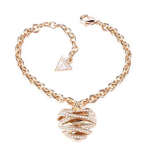 جِس – سوار على شكل قلب متوسط الحجم مطلي ذهبي مقاس صغير - يتم التوصيل بواسطة التوصيل بعد 3 أيام عمل بواسطة بيضون