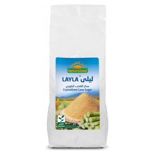 أرض الطبيعة - ليلي سكر القصب البلورى العضوي 500 جم