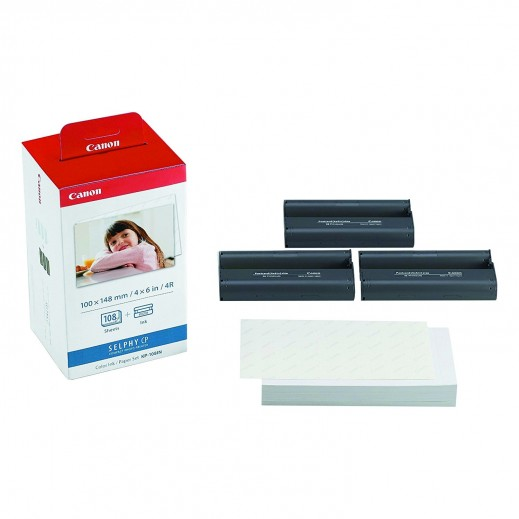 Canon Ink & Paper Set for Canon SELPHY Wireless Photo Printer