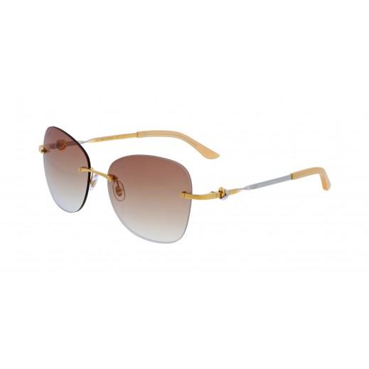 كارتير – نظارة شمسية (Trinity De Cartier) ذهبي للسيدات   - يتم التوصيل بواسطة Waleed Optics