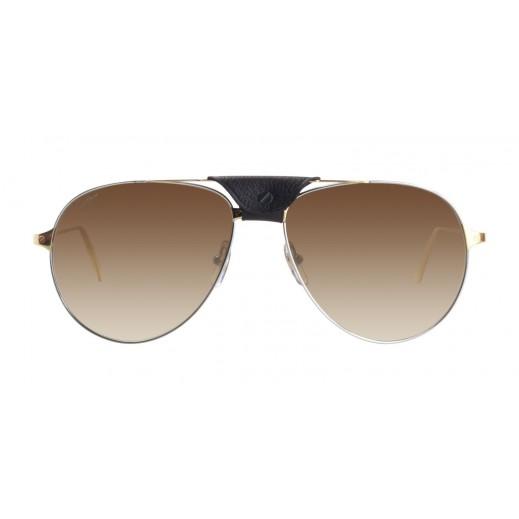 كارتير – نظارة شمسية (Santos ) ذهبي للرجال  - يتم التوصيل بواسطة Waleed Optics