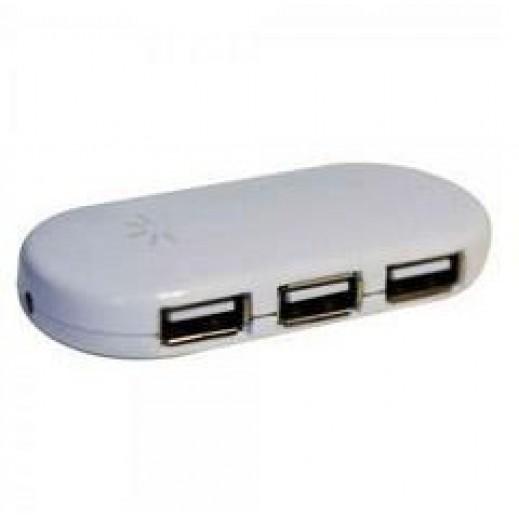 كيس لوجيك – اشتراك USB 2.0 للكمبيوتر 4 مخارج – أبيض