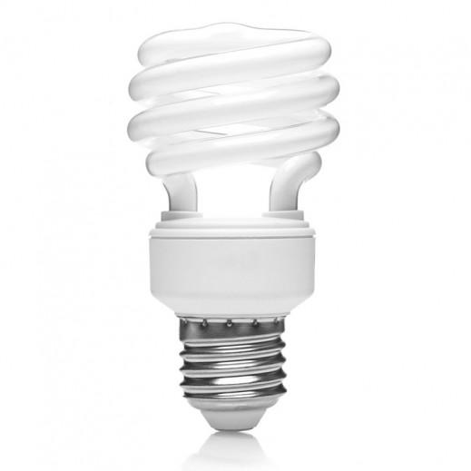 GE 24 W E27 T3 W/W Spiral Energy Saving